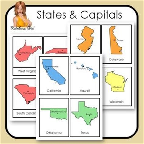 printable flash cards of states and capitals states and capitals cards cards and us states