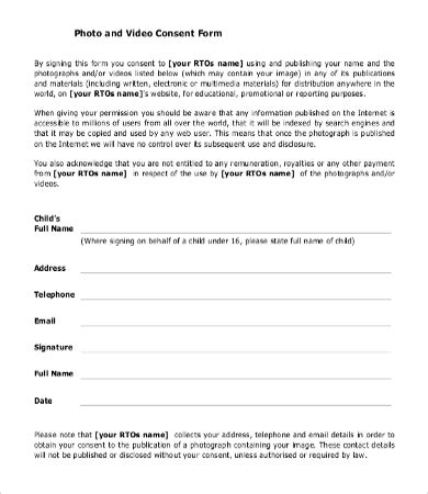 Consent Form Template 9 Free Word Pdf Documents Download Free Premium Templates Free Consent Form Template