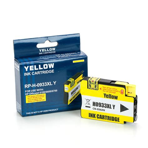 Hp Ink Cartridge 933 Xl Yellow hp 933xl cn056an remanufactured compatible yellow ink