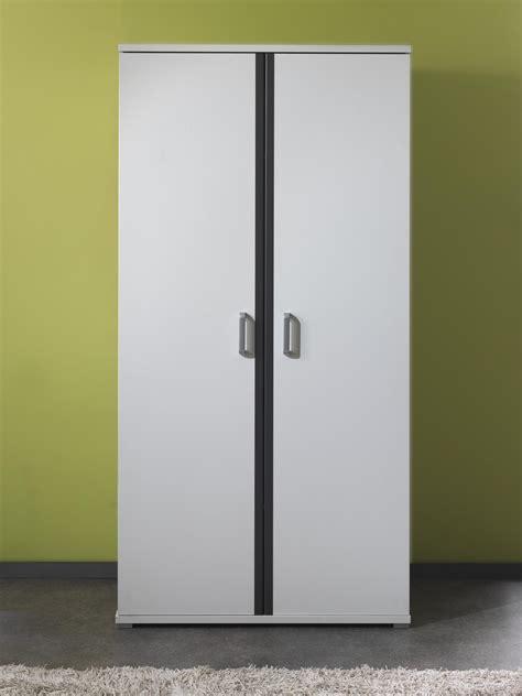 Beau Chambre Blanche Et Grise #3: armoire_2_portes_contemporaine_blanche_et_grise_joss.jpg