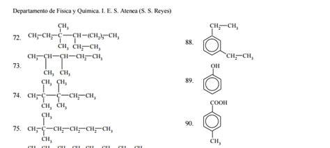 cadenas ramificadas de alcoholes ejercicios de quimica organica resueltos pdf