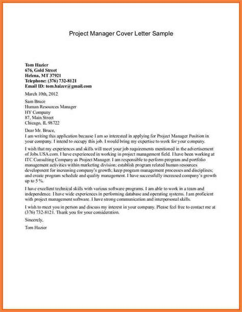 project coordinator cover letter exle 28 images project manager cover letter project manager