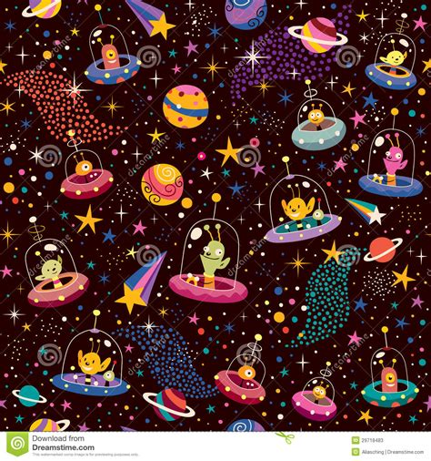 alien pattern tumblr cute aliens pattern stock vector image of childhood