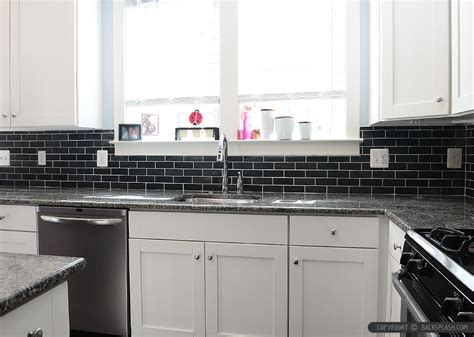 Black Backsplash In Kitchen Black Slate Backsplash Tile New Caledonia Granite