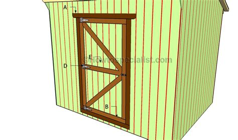 Building A Shed Door by Shed Door Plans Howtospecialist How To Build Step By