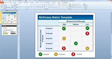 Free McKinsey Matrix PowerPoint Template Product Profitability