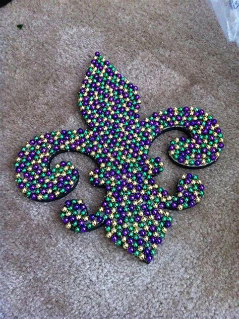 Mardi Gras Bead Fleur De Lis Crafts