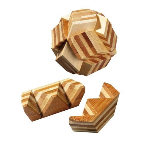 bambus le puzzle bamboo 6 puzzle pieces brain