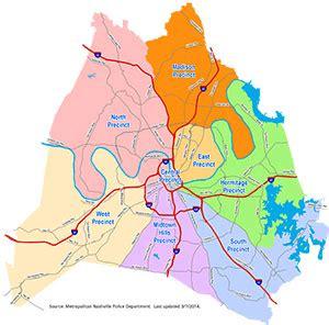 Metro Nashville Department Arrest Records Nashville Gt Department Gt Precincts