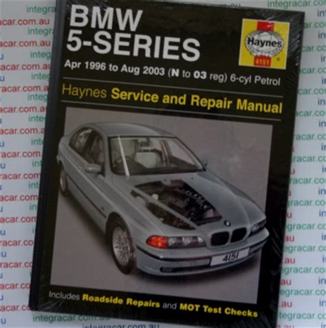 automotive repair manual 2001 bmw 5 series on board diagnostic system bmw 5 series service and repair manual haynes 1996 2003 new workshop car manuals repair books