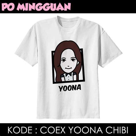 Tshirt Po Mingguan Made Top Chibi coex yoona chibi silverpink shop