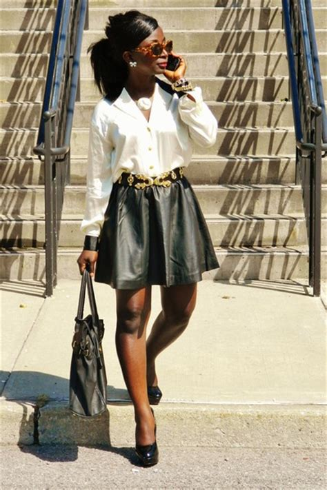 black leather skirts h m skirts quot leather quot by