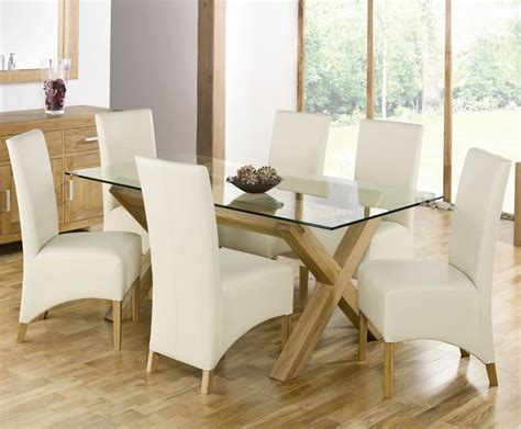 depiction of all glass dining table luxurious set for