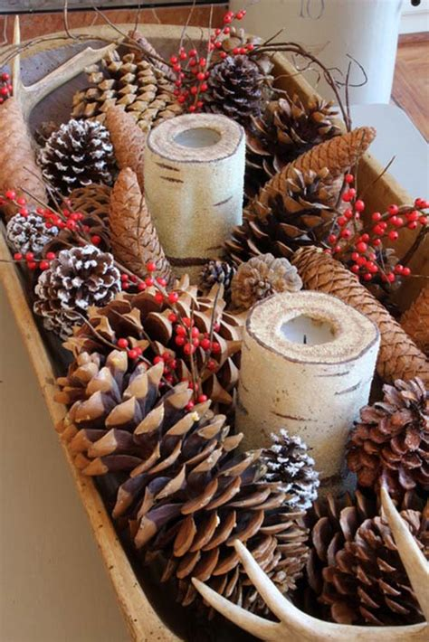 French Country Pottery - 40 fabulous rustic country christmas decorating ideas