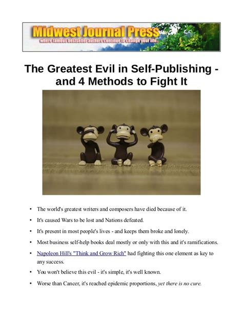 the greatest fight in the world books the greatest evil in self publishing and 4 methods to