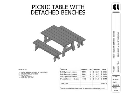 6 picnic table and benches building plans blueprints diy do it yourself get them for free