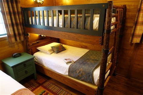 Wilderness Lodge Bunk Beds Photo Tour Of A Refurbed Cabin At Disney S Fort Wilderness Resort Bath And Back Bedroom