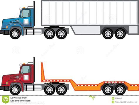 semi truck clip truck clipart flatbed trailer pencil and in color truck