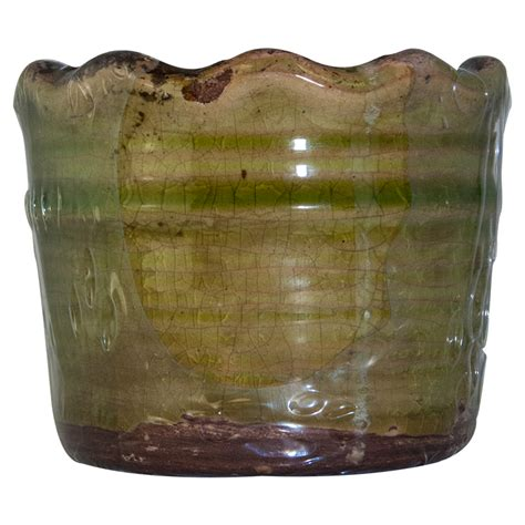Swan Creek Candle Company Gingerbread by Gingerbread Swan Creek Ruffled Edge Pot Color Green