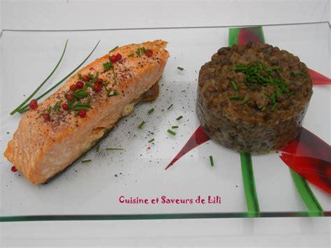 saumon cuisine fut馥 saumon 224 l unilat 233 ral et lentilles vertes du puy cuisine