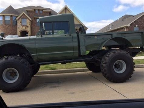 kaiser jeep lifted lifted jeep hummer m715 rock crawler truck