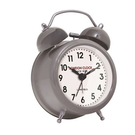 small belle alarm clock cool grey buy table clocks