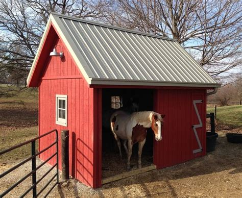 sheds run in shed and horses on