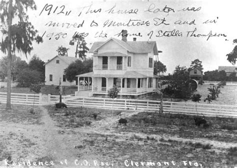 Clermont County Court Records Florida Memory Home Of C O Roe Clermont Florida