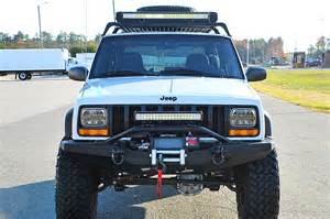 Jeep Xj Lights 50 Inch 23 Inch Led Light Bar On The Jeep Xj