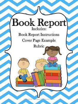 title page for book report book report cover page exle rubric color