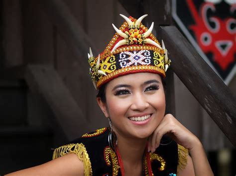 details about dayak girl photo costume jewels borneo dayak girl west kalimantan borneo pinterest crowns