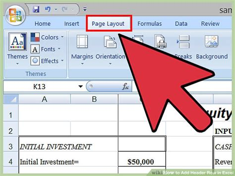 The Simplest Way To Add A Header Row In Excel Wikihow