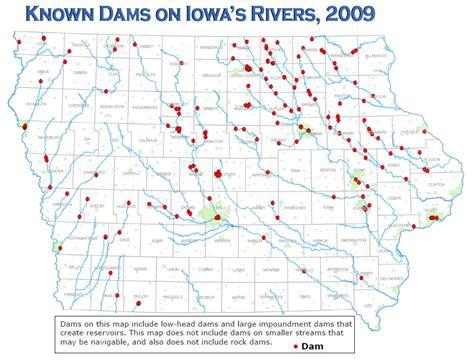 map of iowa rivers low dams
