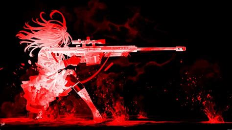 wallpaper anime red red sniper anime pinterest snipers and red