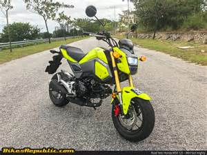 Honda Msx 125 Road Test Honda Msx 125 Mini But Mighty Bikesrepublic