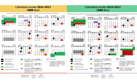 Calendario 2019 Mexico Calendario Escolar De La Sep Ciclo Escolar 2016 2017