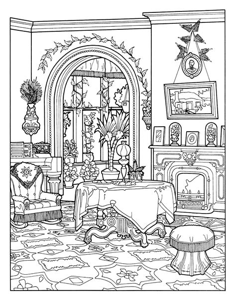coloring pages for adults victorian free coloring page coloring victorian interior style
