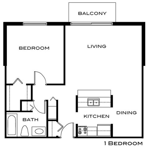 floor plan for one bedroom apartment best 25 apartment floor plans ideas on pinterest 2