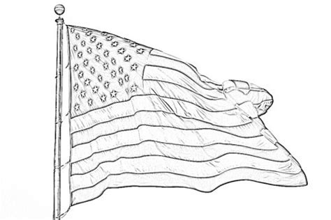 One U Sketches by American Flag Pencil Sketch Free Sketch At Www Dumpr Net
