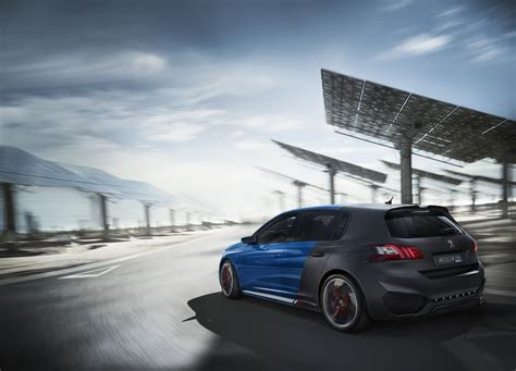 peugeot awd cars peugeot 308 r hybrid is a 500ps awd concept car w video