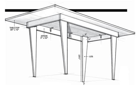 plywood table plans  woodworking