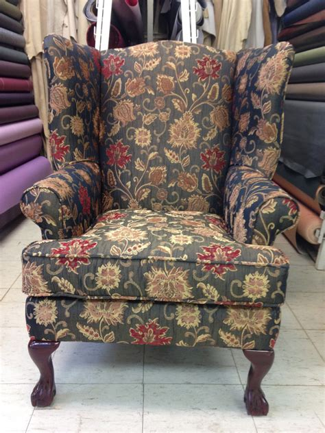 How To Reupholster A Wingback Armchair by Reupholstered Wing Chairs Foamland And Ted S Furniture