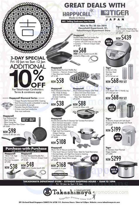Happycall 32cm Chef Wok tiger happycall promo offers takashimaya 10 20 jan 2014