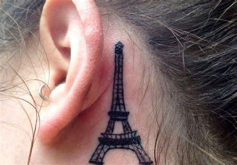 eiffel tower tattoo behind ear eiffel tower tattoos designs ideas and meaning tattoos