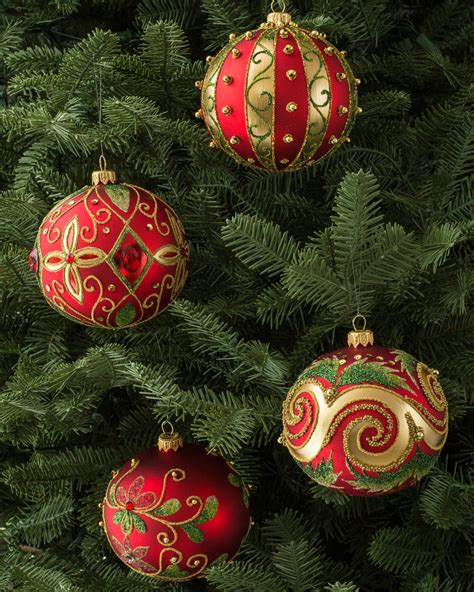decorated glass ball ornament set balsam hill australia