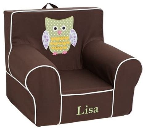 armchair for kids owl applique floral anywhere chair modern kids chairs
