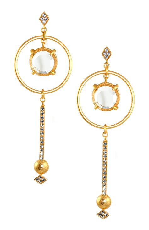 gerard yosca mina earrings in gold lyst