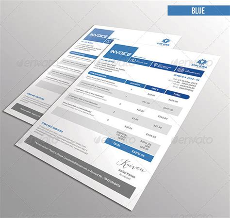 37 best psd invoice templates for freelancer web