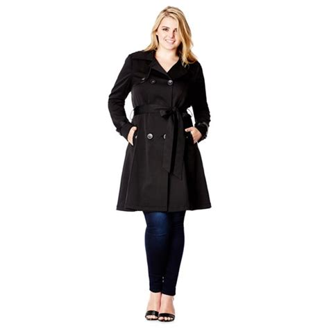Found A City Chic Leather Coat by Plus Size Coats For This Is Meagan Kerr