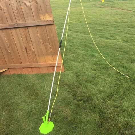 pole for dogs portable flex pole tie out for your dogs by andy k 9 services